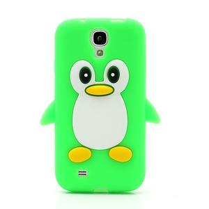 Silikonový Tučniak puzdro pro Samsung Galaxy S4 i9500- zelený - 2