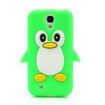 Silikonový Tučniak puzdro pro Samsung Galaxy S4 i9500- zelený - 2/6
