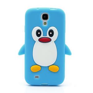 Silikonový Tučniak puzdro pro Samsung Galaxy S4 i9500- svetlo-modrý - 2
