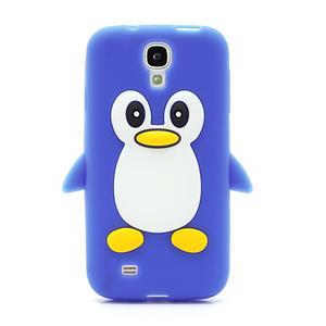 Silikonový Tučniak puzdro pro Samsung Galaxy S4 i9500- modrý - 2
