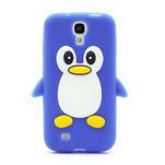 Silikonový Tučniak puzdro pro Samsung Galaxy S4 i9500- modrý - 2/6