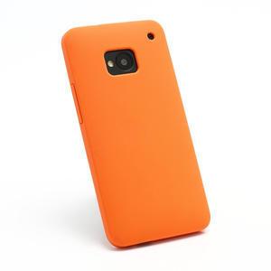 Silikonové puzdro pre HTC one M7- oranžové - 2