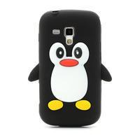 Silikonový Tučňák puzdro na Samsung Galaxy Trend, Duos- čierny - 2/6