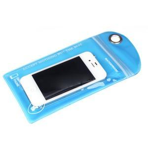 Nepromokavý a odolný obal na mobil do rozměrů 150 x 95 mm - modrý - 2