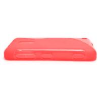 Gélové S-line puzdro na Nokia Lumia 620- červené - 2/5