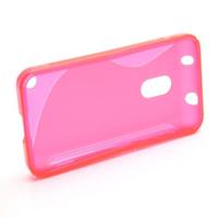 Gélové S-line puzdro na Nokia Lumia 620- růžové - 2/5