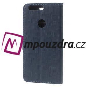 Clothy Peňaženkové puzdro pre mobil Honor 8 - tmavomodré - 2