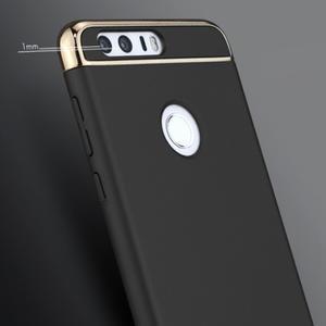 Luxusní odolný obal 3v1 na mobil Honor 8 - čierny - 2