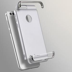 Luxusné odolný obal 3v1 pre mobil Honor 8 - strieborny - 2