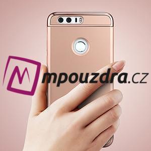 Luxusné odolný obal 3v1 pre mobil Honor 8 - zlatoružový - 2