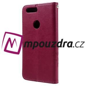 Floay PU kožené puzdro s kamienky pre mobil Honor 8 - rose - 2