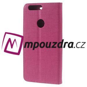 Clothy peněženkové puzdro na mobil Honor 8 - rose - 2