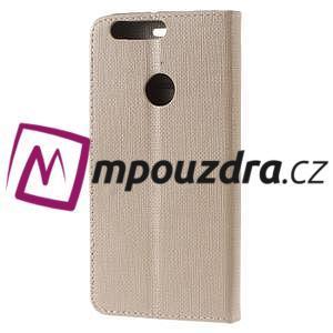 Clothy peněženkové puzdro na mobil Honor 8 - zlaté - 2