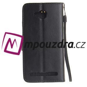 Dandelion PU kožené puzdro na mobil Huawei Y3 II - čierne - 2