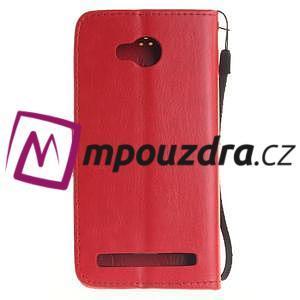 Dandelion PU kožené puzdro na mobil Huawei Y3 II - červené - 2