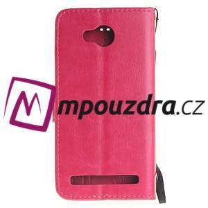 Dandelion PU kožené puzdro na mobil Huawei Y3 II - rose - 2