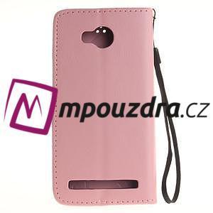 Dandelion PU kožené puzdro na mobil Huawei Y3 II - růžové - 2