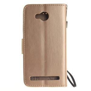 Dandelion PU kožené puzdro na mobil Huawei Y3 II - zlaté - 2