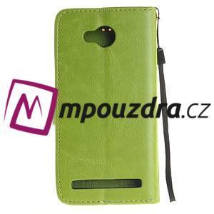 Dandelion PU kožené puzdro na mobil Huawei Y3 II - zelené - 2