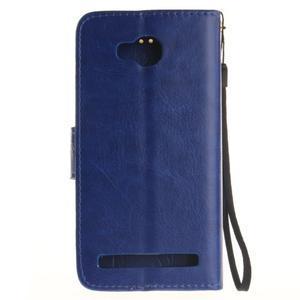 Dandelion PU kožené puzdro na mobil Huawei Y3 II - modré - 2