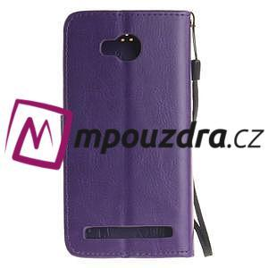 Dandelion PU kožené puzdro na mobil Huawei Y3 II - fialové - 2