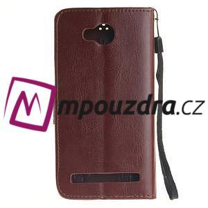 Dandelion PU kožené puzdro na mobil Huawei Y3 II - hnědé - 2