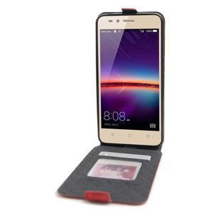 Flipové PU kožené puzdro na Huawei Y3 II - červené - 2