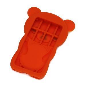 Bear silikónový obal na iPod Nano 7 - oranžový - 2