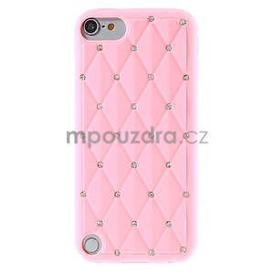 Brite silikónový obal s kamienkami iPod Touch 6 / Touch 5 - ružový - 2
