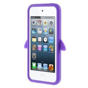 Penguin silikónový obal na iPod Touch 6 / iPod Touch 5 - fialový - 2