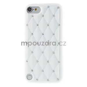 Brite silikónový obal s kamienkami iPod Touch 6 / Touch 5 - biely - 2