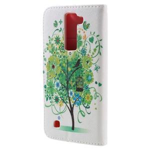 Emotive PU kožené puzdro pre LG K8 - zelený strom - 2