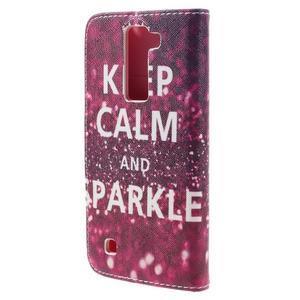 Emotive PU kožené puzdro pre LG K8 - Keep Calm - 2