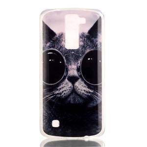 Jells gelový obal na LG K8 - cool kočka - 2