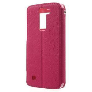 Diary PU kožené pouzdro s okýnkem na LG K8 - rose - 2