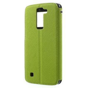 Diary PU kožené puzdro s okienkom na LG K8 - zelené - 2