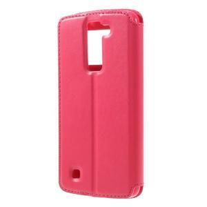 Richi PU kožené pouzdro na mobil LG K8 - rose - 2