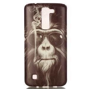 Emotive gélový obal pre mobil LG K8 - opičák - 2