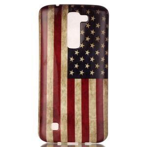 Emotive gélový obal pre mobil LG K8 - US vlajka - 2
