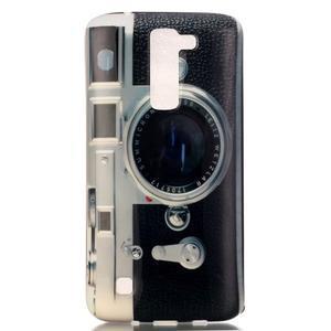Emotive gélový obal pre mobil LG K8 - retro foťák - 2