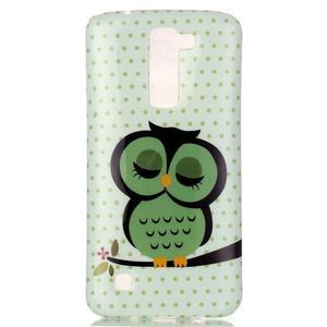 Emotive gélový obal pre mobil LG K8 - sova - 2