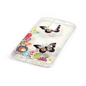 Průhledný gelový obal na telefon LG K8 - motýlek - 2