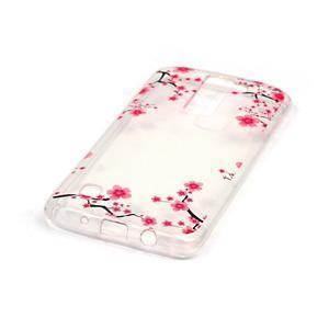 Průhledný gelový obal na telefon LG K8 - kvetoucí švestka - 2