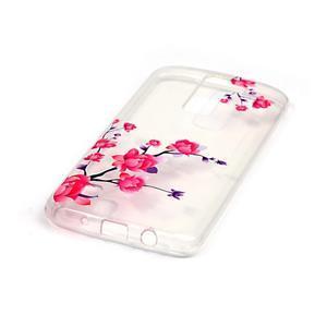 Priehľadný gélový obal pre telefon LG K8 - kvitnúce vetvička - 2