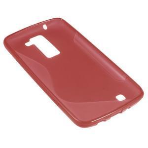 S-line gélový obal pre LG K8 - červený - 2