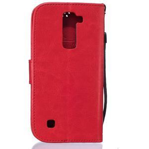 Dandelion PU kožené puzdro pre mobil LG K8 - červené - 2