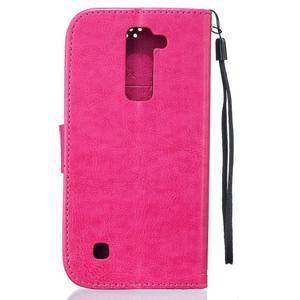 Dandelion PU kožené pouzdro na mobil LG K8 - rose - 2