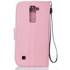 Dandelion PU kožené puzdro pre mobil LG K8 - ružové - 2
