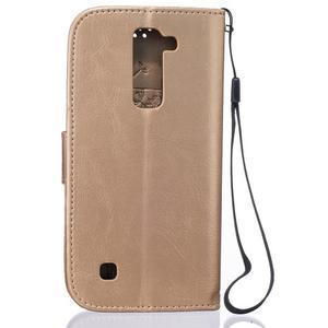 Dandelion PU kožené pouzdro na mobil LG K8 - zlaté - 2