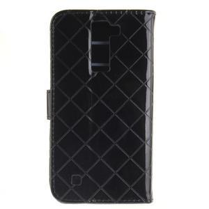 Luxusní PU kožené puzdro s přezkou na LG K8 - čierne - 2